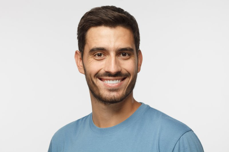 Smiling man with white smile