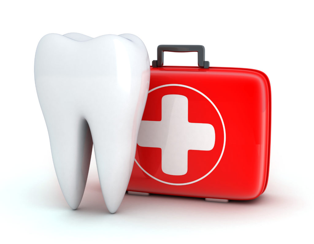 Tooth and medical kit for a dental emergency
